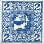 [Newspaper Stamps, type XBF]