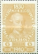 [The 80th Anniversary of the Birth of Emperor Franz Josef I - With Enlarged Year Labels Top and Bottom, Typ Z1]