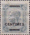 [Austrain Postage Stamps Surcharged - With Varnish Bars, type E]
