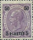 [Austrian Postage Stamps Surcharged - Granite Paper, Typ F6]
