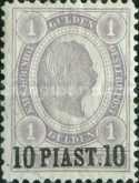[Austrian Postage Stamps No.78-79 Surcharged, type I]