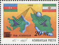 """[Issue of 1993 Overprinted """"IRAN-AZERBAYGAN"""" and Surcharged, type AZ2]"""