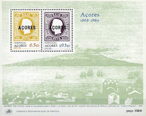 [The 112th Anniversary of the First Stamp Issue from Azores, type ]