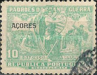 """[Portoguese Stamps Overprinted """"Azores"""", type AK1]"""
