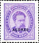 """[Portoguese Stamps Overprinted """"Azores"""" in Small, type H5]"""