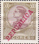 [King Manuel II - No.107-121 Overprinted
