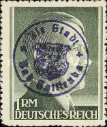 [Hitler - German Empire Stamps 1941-1945 Overprinted Bad Gottleuba's Signature Stamp, type A19]