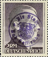 [Hitler - German Empire Stamps 1941-1945 Overprinted Bad Gottleuba's Signature Stamp, type A20]