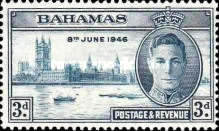 [Victory in WWII - King George VI & Houses of Parliament, type AB1]