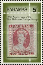 [The 125th Anniversary of First Bahamas Postage Stamp, Typ OK]