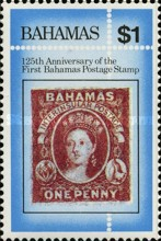 [The 125th Anniversary of First Bahamas Postage Stamp, Typ OL]