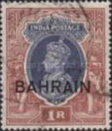 """[Postage Stamps of India Overprinted """"BAHRIAN"""", type C10]"""