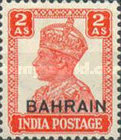 """[Postage Stamps of India Overprinted """"BAHRIAN"""", type D6]"""