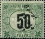 [Hungarian Postage-due Stamp Overprinted