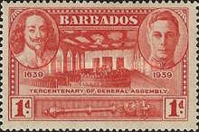 [The 300th Anniversary of the General Assembly of Barbados, type AA1]