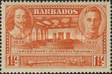 [The 300th Anniversary of the General Assembly of Barbados, type AA2]