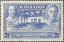 [The 300th Anniversary of the General Assembly of Barbados, type AA3]