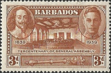 [The 300th Anniversary of the General Assembly of Barbados, type AA4]