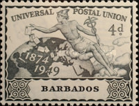 [The 75th Anniversary of the Universal Postal union, type AH]
