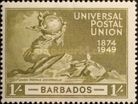[The 75th Anniversary of the Universal Postal union, type AI]