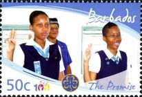 [The 100th Anniversary of Girl Guides, type AZG]
