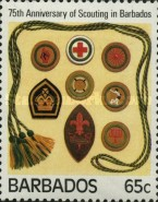 [The 75th Anniversary of Scouting in Barbados, Typ TW]