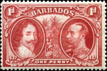 [King Karl I and King George V - The 300th Anniversary of the Colonization of Barbados, type W]