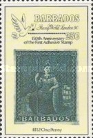 """[The 150th Anniversary of the Penny Black and International Stamp Exhibition """"Stamp World London '90"""" - London, England, type WJ]"""