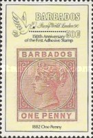 """[The 150th Anniversary of the Penny Black and International Stamp Exhibition """"Stamp World London '90"""" - London, England, type WK]"""