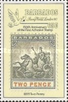 """[The 150th Anniversary of the Penny Black and International Stamp Exhibition """"Stamp World London '90"""" - London, England, type WL]"""
