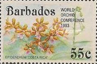 [The 14th World Orchid Conference - Glasgow, UK. Issue of 1992 Overprinted, Typ YO1]