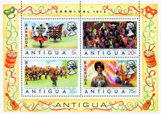 [Carnival - Antigua Postage Stamps Overprinted