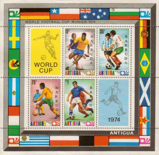 [Football World Cup - West Germany. Antigua Postage Stamps Overprinted