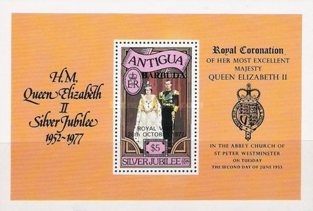 [Royal Visit to Antigua and Barbuda - Antigua Postage Stamps Overprinted