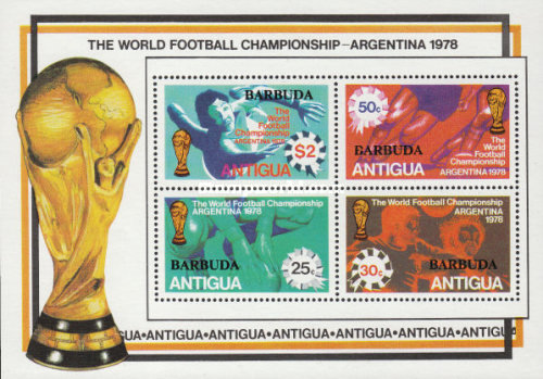 [Football World Cup - Argentina - Anguila Postage Stamps Overprinted