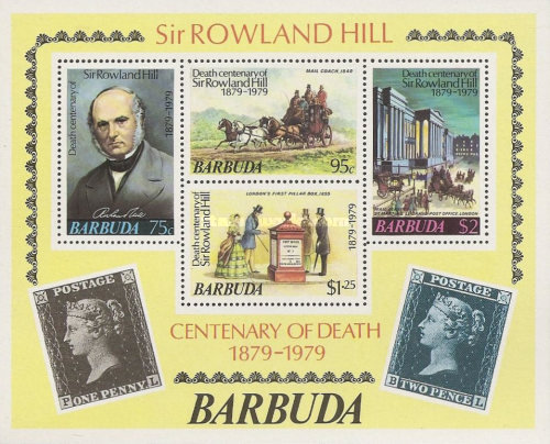[The 100th Anniversary of the Death of Rowland Hill, 1795-1879, Typ ]