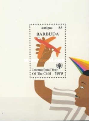[International Year of the Child - Antigua Postage Stamps Overprinted