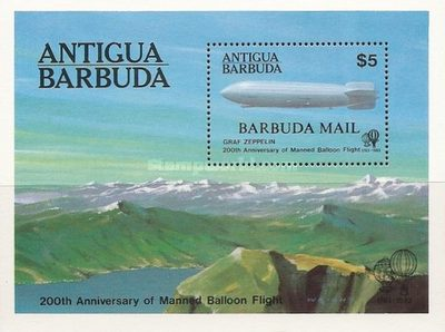 [The 200th Anniversary of Manned Flight - Issue of 1983 of Antigua Overprinted