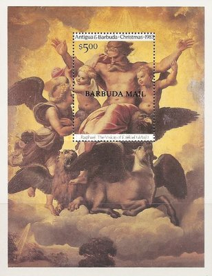[Christmas - The 500th Anniversary of the Birth of Raphael, 1483-1520 - Issue of 1983 of Antigua & Barbuda Overprinted