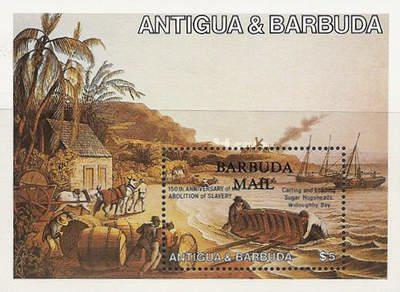 [The 150th Anniversary of the Abolition of Slavery - Issue of 1984 of Antigua & Barbuda Overprinted