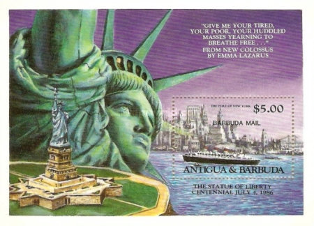 [The 100th Anniversary of the Statue of Liberty, New York - Issue of 1985 of Antigua & Barbuda Overprinted
