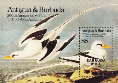 [Birds - The 200th Anniversary of the Birth of John James Audubon,  1785-1851 - Issue of 1985 of Antigua & Barbuda Overprinted