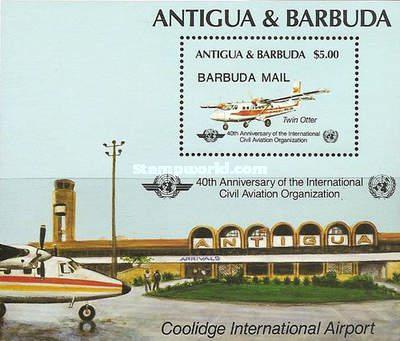 [The 40th Anniversary of the International Civil Aviation Organization - Issue of 1985 of of Antigua & Barbuda Overprinted