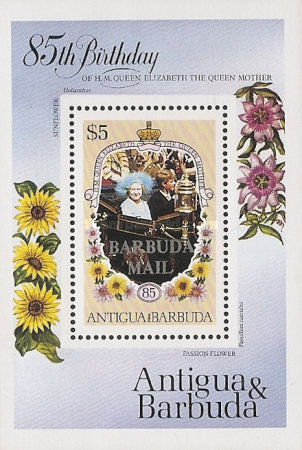 [The 85th Anniversary of the Birth of Queen Elizabeth the Queen Mother, 1900-2002 - Issue of 1985 of Antigua & Barbuda Overprinted