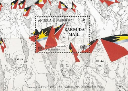 [International Youth Year - Issue of 1985 of Antigua & Barbuda Overprinted