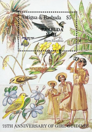 [The 75th Anniversary of the Girl Guide Movement - Issue of 1985 of Antigua & Barbuda Overprinted