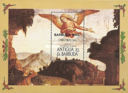 [Christmas - Religious Paintings - Issue of 1985 of Antigua & Barbuda Overprinted