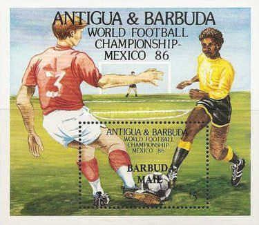 [Football World Cup - Mexico - Issue of 1986 of Antigua & Barbuda Overprinted