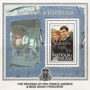 [The Wedding of HRH Prince Andrew and Miss Sarah Ferguson - Issue of 1986 of Antigua & Barbuda Overprinted