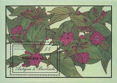 [Flowers - Issue of 1986 of Antigua & Barbuda Overprinted